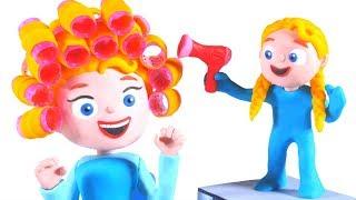 PRINCESS NEW LOOK ❤ Superhero Babies Play Doh Cartoons For Kids