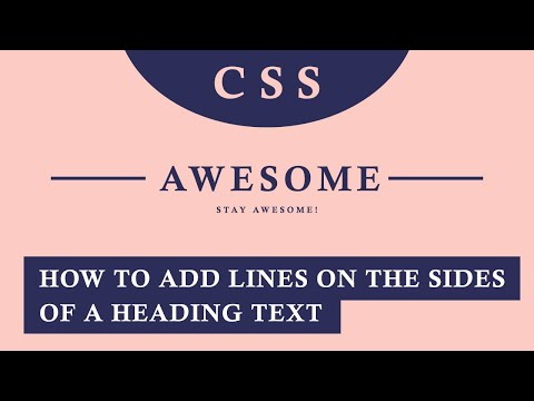 CSS Tricks: Horizontal Lines Before And After Texts (Quick Tutorial)
