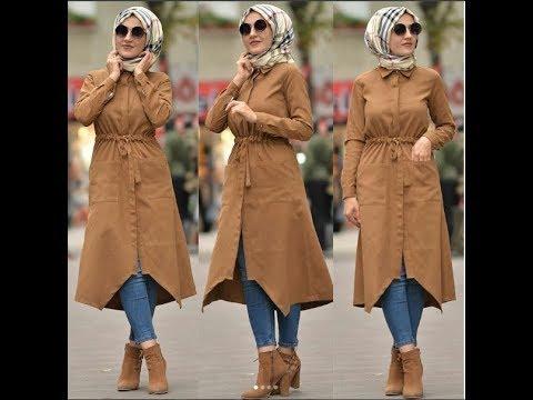 اخر صيحات ملابس شتوية المحجبات من ماركات تركيةNew Winter Collection Mouhajabet2018- 2018
