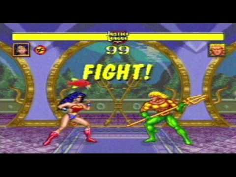 Justice League Task Force 1995 Wonder Woman Vs DC Heroes Mega Drive Edition
