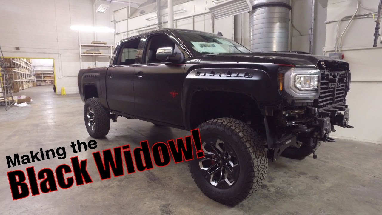 Building A Black Widow Custom Truck Behind The Scenes Youtube