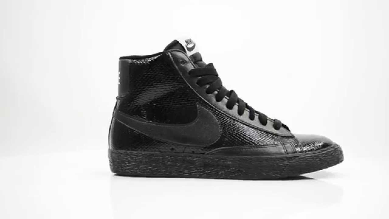 nike blazer mid leather black womens trainers