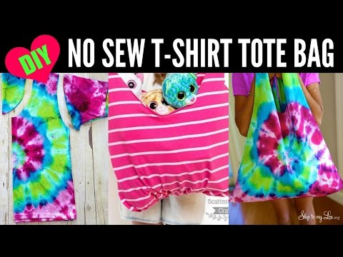 DIY NO SEW Shirt Tote Bag - TayTakeover