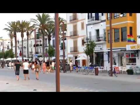 ibiza - walk through ibiza old town by the marina