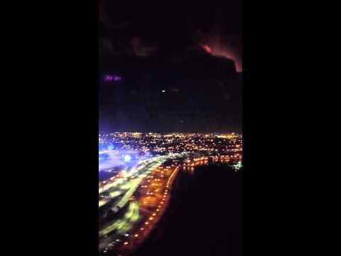 Westjet flight landing in New York LGA LaGuardia