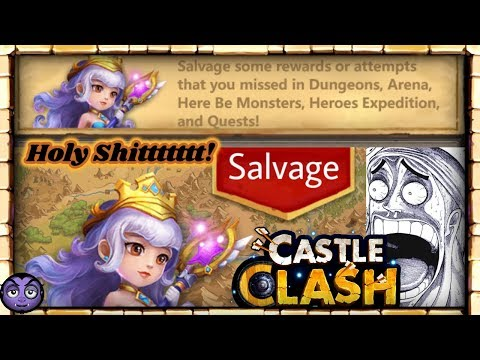 CASTLE CLASH | Salvage | HOLY SHIT!!