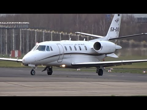 [RARE] Libyan Air Ambulance C56X - Arrival at Mönchengladbach Airport
