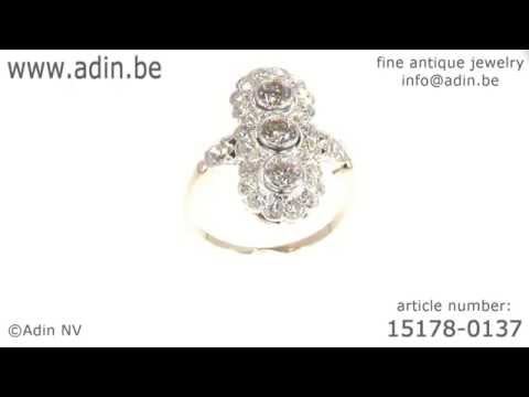 Art Deco Belle Epoque diamond engagement ring. (Adin reference: 15178-0137)