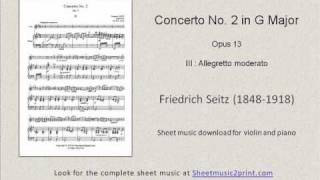Seitz : Concerto No. 2 in G Major, Op. 13 (III : Allegretto moderato)