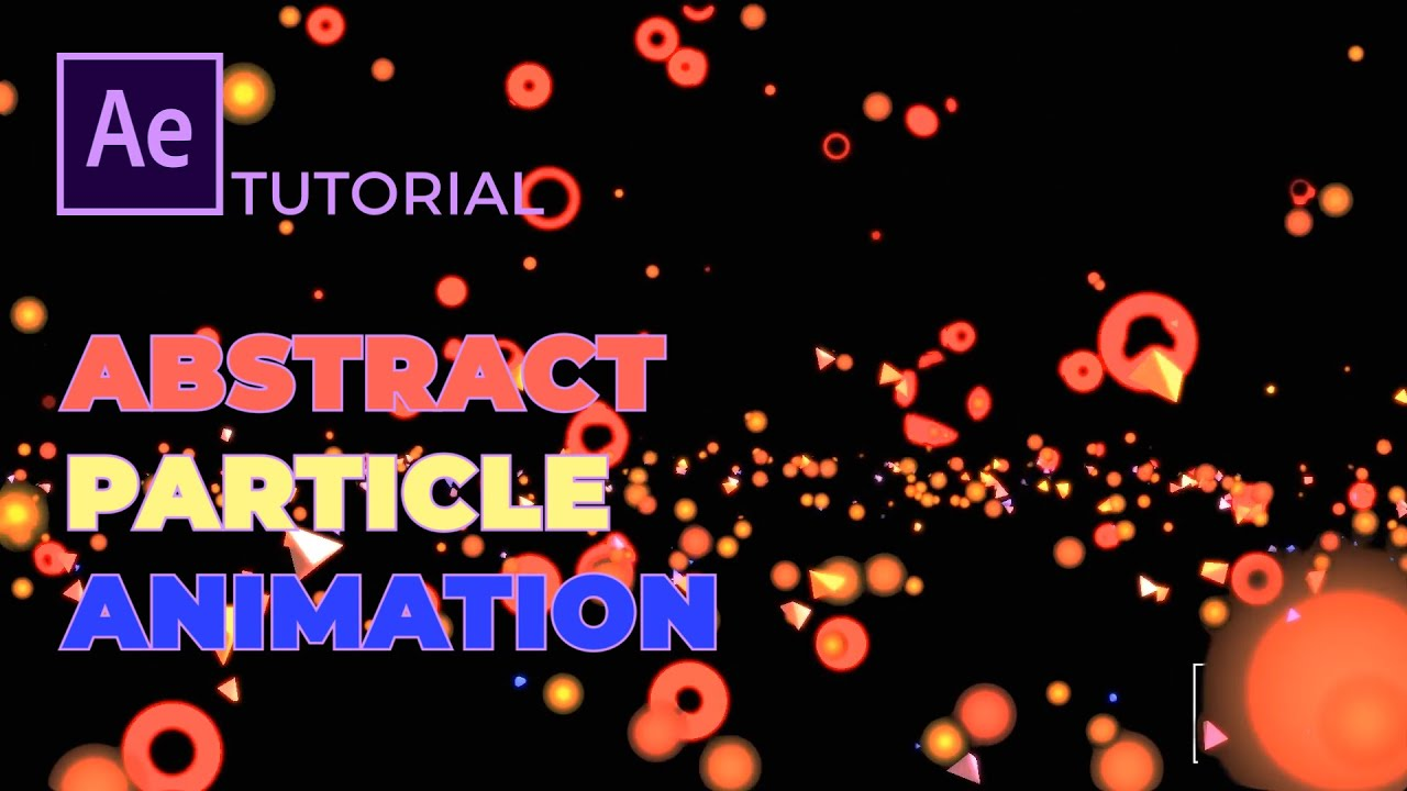Beautiful Abstract Particle Effect - After Effects Tutorial (No Plugins) - CC Particle World