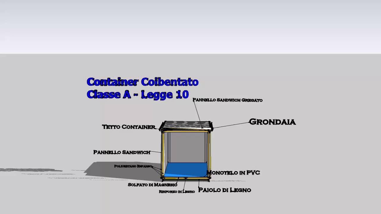 Isolare La Casa Basaluzzo container casa, container abitativi coibentati classe a energetica spaccato