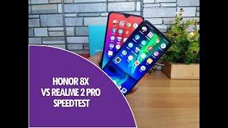 Honor 8x vs Realme 2 Pro Speedtest Comparison
