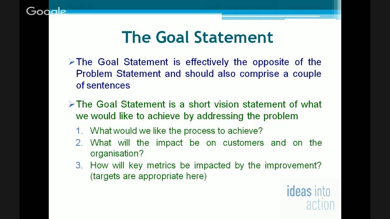 goal statement sample