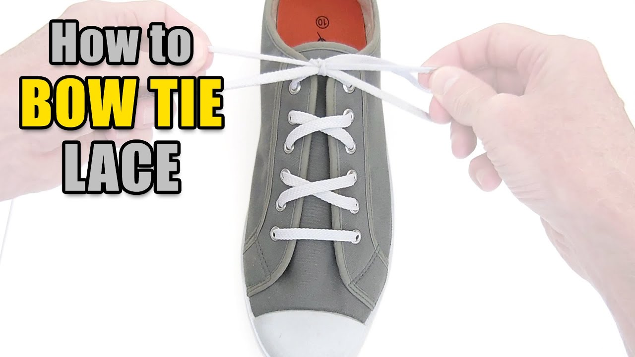 How to Bow Tie Lace your shoes  Professor Shoelace - YouTube