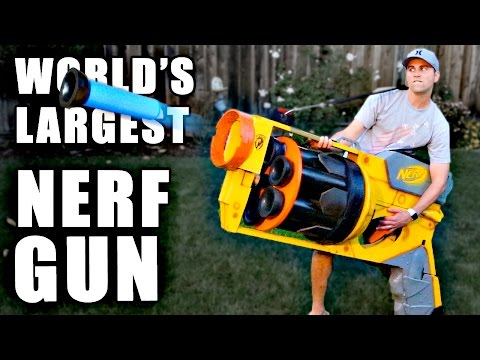 Thumbnail: World's LARGEST NERF GUN!!