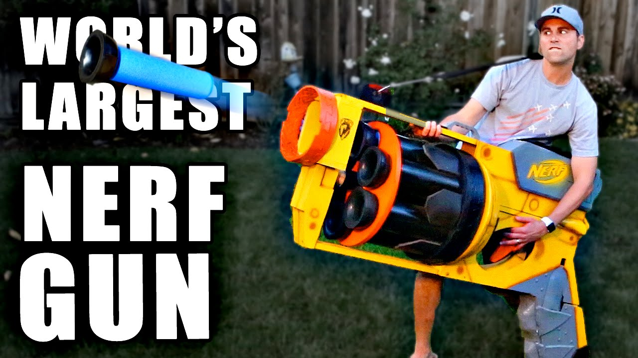 c4850fb2301 World s LARGEST NERF GUN!! - YouTube