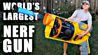 World's LARGEST NERF GUN!!(I made the world's largest Nerf gun to defend my honor. CHECK OUT AND SUB RYAN AND DAVID'S CHANNEL: ..., 2016-06-21T16:00:01.000Z)