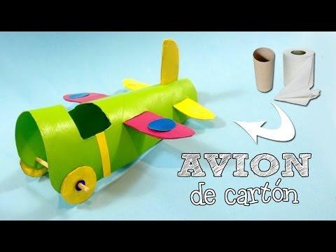Avión de cartón   Manualidades con reciclaje