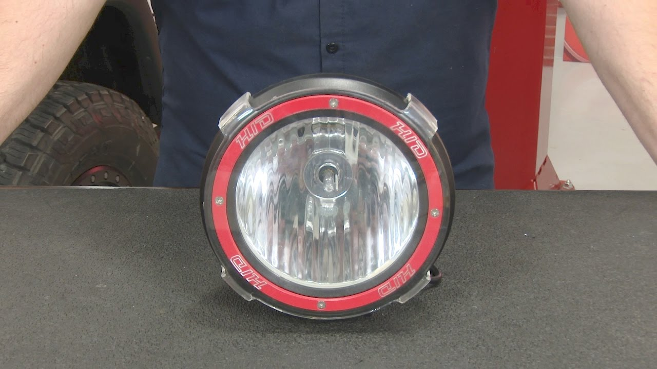 Rugged Ridge Off Road Light Hid Round 7 With Black Composite Housing