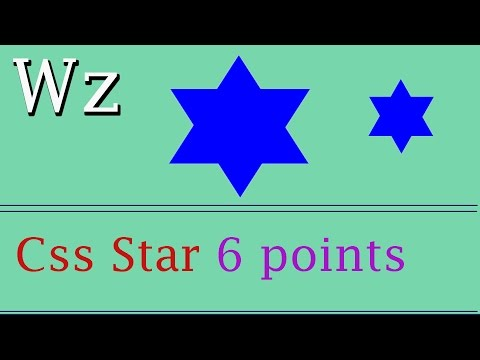 How To Make A 6(six) Points Star Using Html And Css | Web Zone