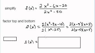 Simplifying Rational Functions