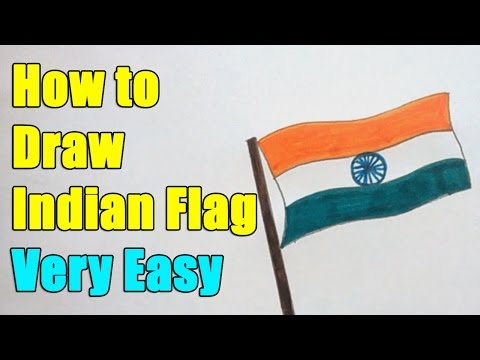 How to Draw Indian Flag on this 26th January 2017