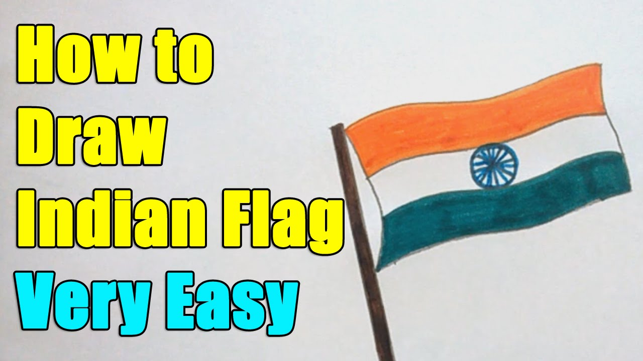 how to draw indian flag on this 15th august 2017 independence