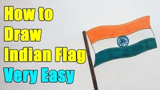 How to Draw Indian Flag on this 15th August 2016