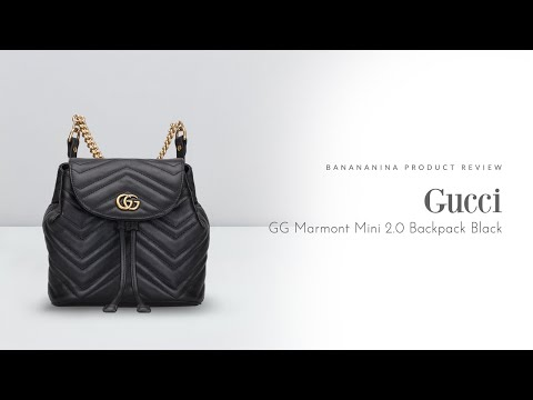 Banananina Product Review: Gucci GG Marmont Mini 2.0 Backpack Black