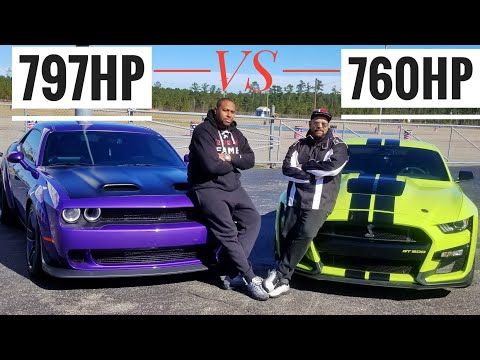 Will The 2020 GT500 DESTROY The 2019 Hellcat Redeye In A Drag Race? Ford VS Dodge
