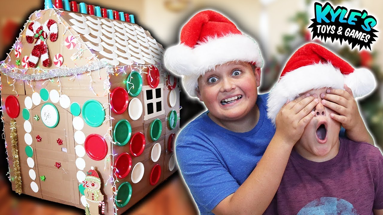 Mystery Christmas Box Fort Surprise For Kyle Youtube