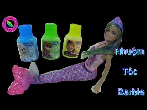 Búp Bê Barbie Nàng Tiên Cá Nhuộm Tóc Barbie - Barbie Blue Hair Dying Mermaid Barbie Anna Doll