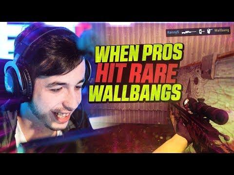 CS:GO - WHEN PROS HIT RARE WALLBANGS ft dupreeh Fallen Guardian & MORE