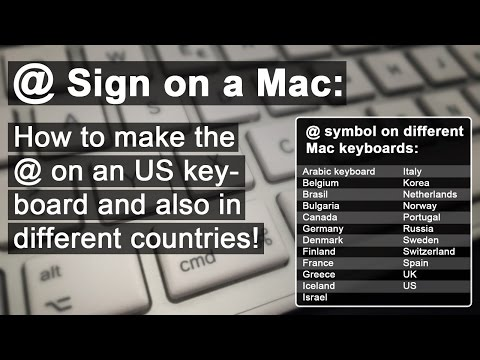 At Sign On A Mac: How To Make The @!