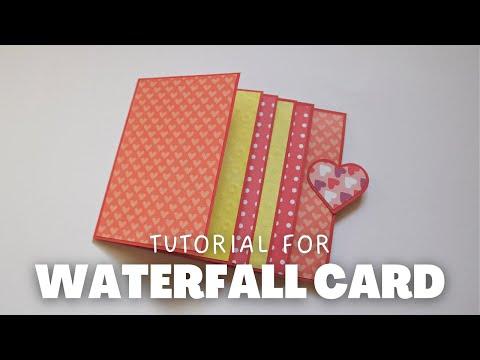 HOW TO MAKE WATERFALL CARD | TUTORIAL | SCRAPBOOK IDEAS