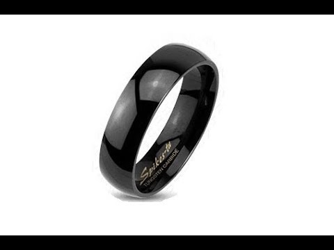 jewellery---tungsten-smooth-black-ring,-high-gloss,-2-mm
