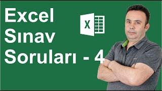 Excel Uygulama Sınavı 4. Soru- 324.video   Ömer BAĞCI