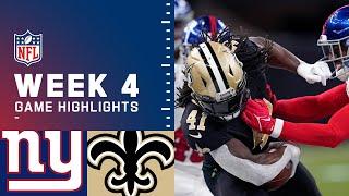 Giants vs. Saints Week 4 Highlights   NFL 2021
