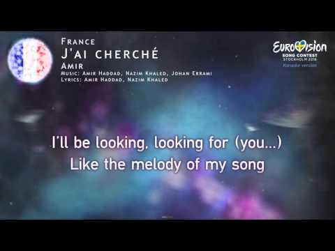Amir - J'ai cherché (France) - [Karaoke version]