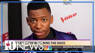 Chris Blue reacts to winning The Voice