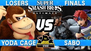 Smash Ultimate Tournament Losers Finals - Yoda Cage (DK) vs Sabo (Snake / Roy) - CNB 193