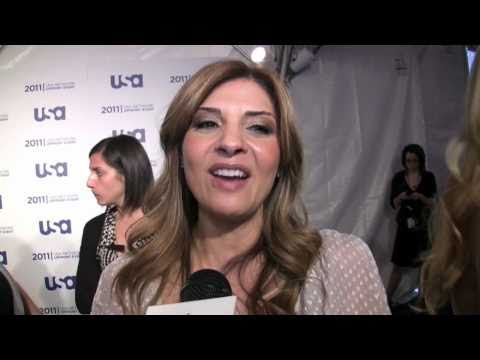 Callie Thorne speaks about 'Necessary Roughness' at the 2011 USA upfront