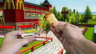 Realistic Minecraft -VISITING MCDONALDS IN REAL LIFE MINECRAFT!