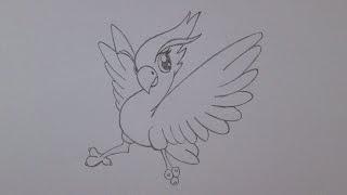 Cómo dibujar un ave fénix