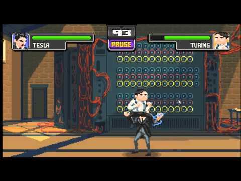 Science Kombat Full figth ending God defeated | Nikola Tesla ray gun combo