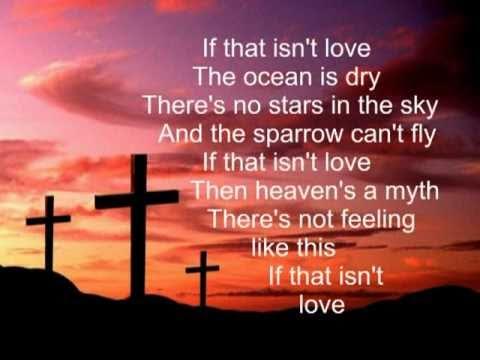 IF THAT ISN'T LOVE With Lyrics  -- Piano