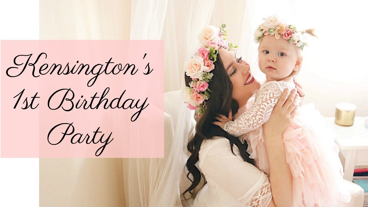 1st Birthday Party 1 Year Old Baby Update Princess Birthday Party Ideas Youtube