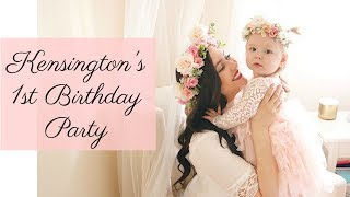 1st Birthday party- 1 year old baby update: Princess Birthday Party Ideas