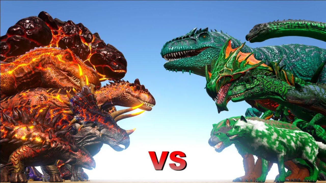 X-Creatures VS R-Creatures | ARK