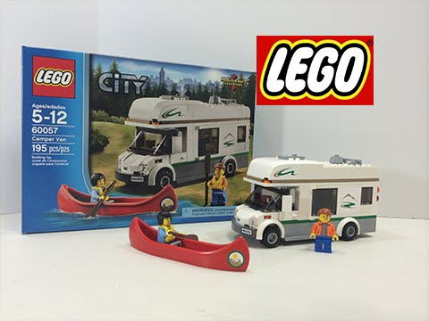 Lego City Camper Van Play Set 60057 Toy Opening & Playing - YouTube